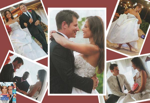 Real Weddings Dazzling Dresses: Vanessa Minnillo in