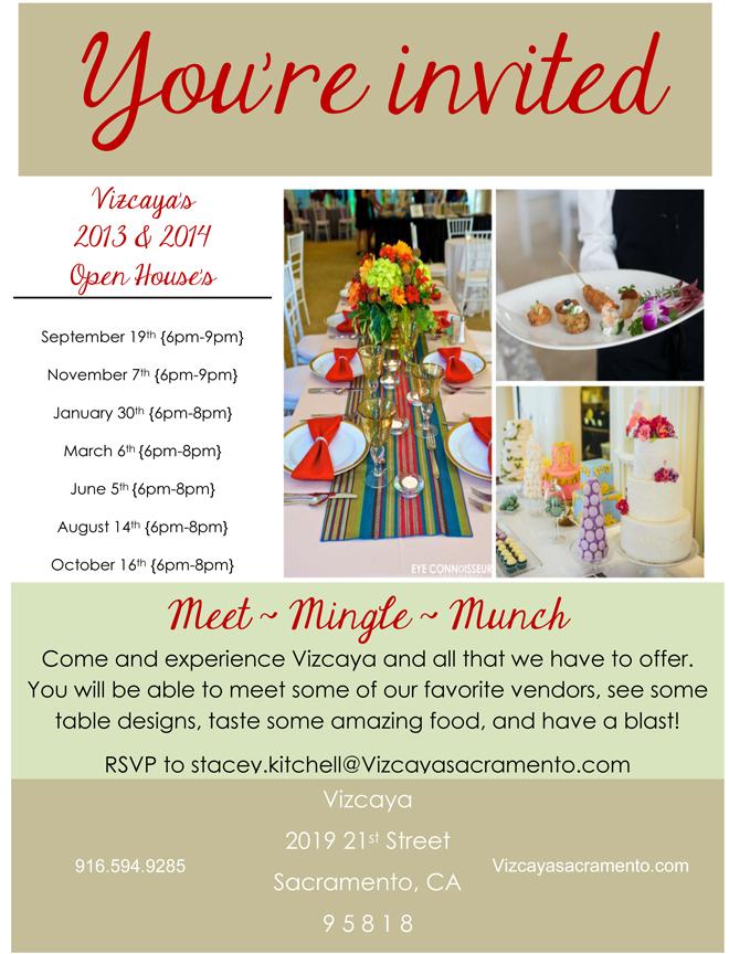 Vizcaya Open House Flyer
