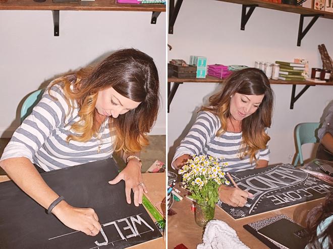 Chalk Workshop at Thistle & Honey on www.realweddingsmag.com 12