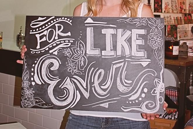 Chalk Workshop at Thistle & Honey on www.realweddingsmag.com 13