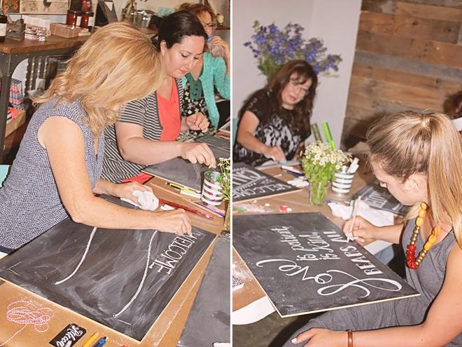 Chalk Workshop at Thistle & Honey on www.realweddingsmag.com 6