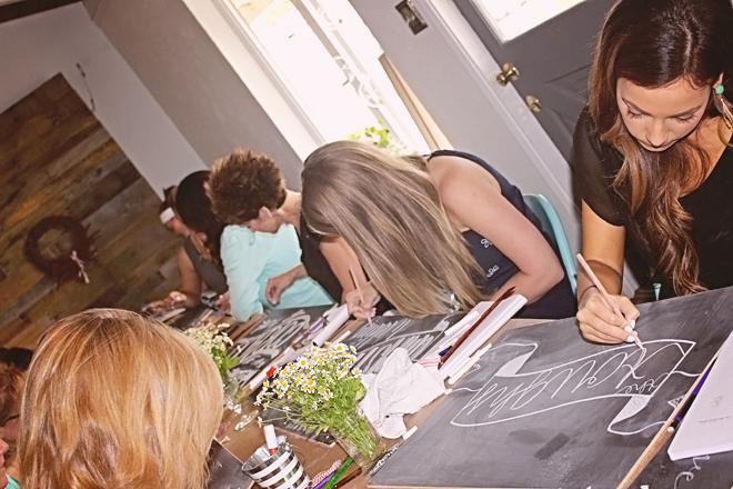 Chalk Workshop at Thistle & Honey on www.realweddingsmag.com 7