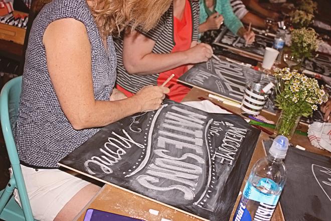 Chalk Workshop at Thistle & Honey on www.realweddingsmag.com 8
