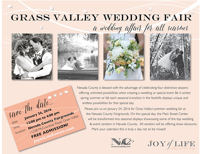 Grass Valley Wedding Event