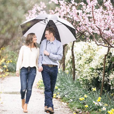 Andrew & Melanie Engagement in the Rain - Photography-Saccramento Wedding Photographers-