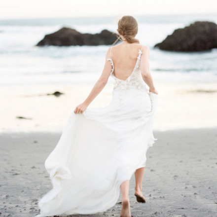 Jennifer Clapp Fine Art Photography Bride at Beach - Sacramento Wedding Photographer - Real Weddings Magazine