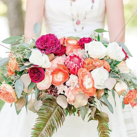 Wild Flowers Design Group-Sacramento Bridal Bouquet-Real Weddings Magazine