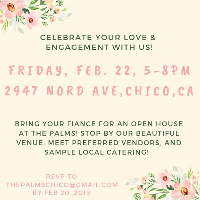 The Palms Chico Open House | Chico Wedding Venue | Chico Wedding Event