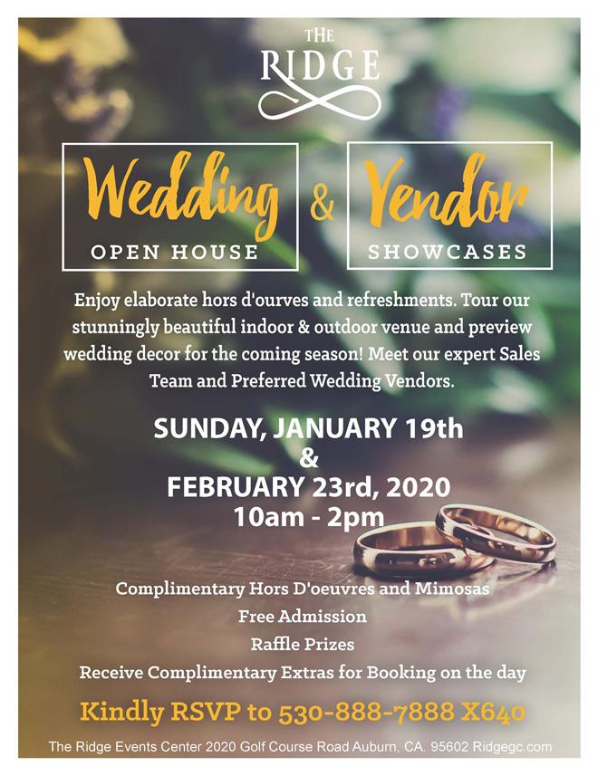 The Ridge Open House   Auburn Wedding Venue     Sacramento Bridal Show   Find Your Wedding Vendors