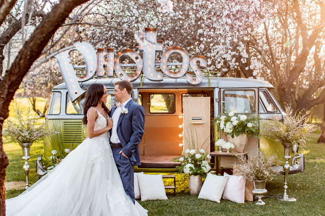 Sacramento Tahoe Wedding Photo Booth VW Bus