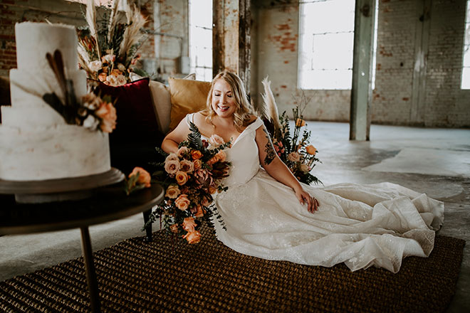 James Young Photography Moody Trendy Modern Old Sugar Mill Wedding Sacramento Real Bride Natalie