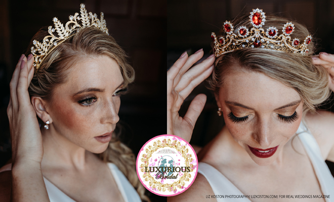 Sacramento Tahoe Wedding Bridal Accessories Jewelry Tiara Headpieces | Luxurious Bridal